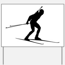 Biathlon Yard Sign