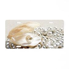 Pearls Aluminum License Plate