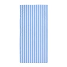Faded Blue Stripes Beach Towel