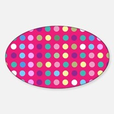 Polka Dots on Hot Pink Decal