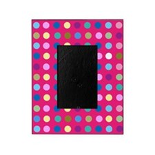 Polka Dots on Hot Pink Picture Frame