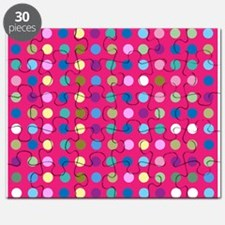 Polka Dots on Hot Pink Puzzle