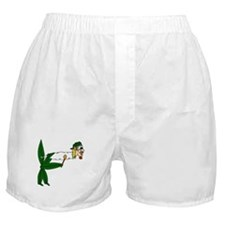 Smoking pot leaf Boxer Shorts