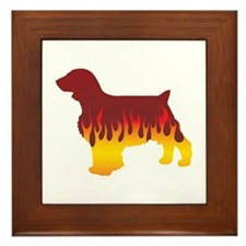 Welshie Flames Framed Tile