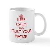 Keep calm mayor Coffee Mugs