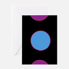 Polka Dots on Black Greeting Cards