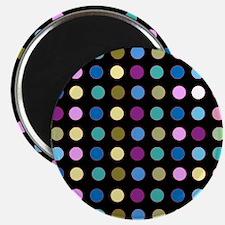 Polka Dots on Black Magnets