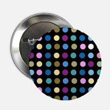 "Polka Dots on Black 2.25"" Button"
