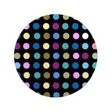 "Polka Dots on Black 3.5"" Button"