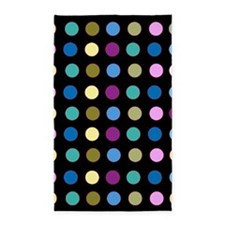 Polka Dots on Black 3'x5' Area Rug