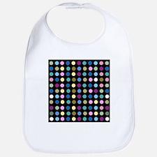 Polka Dots on Black Bib