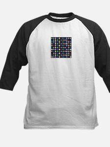 Polka Dots on Black Baseball Jersey