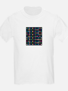 Polka Dots on Black T-Shirt