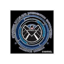 """Distressed Shield Square Sticker 3"""" x 3"""""""