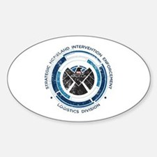 Distressed Shield Sticker (Oval)
