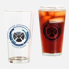 Distressed Shield Drinking Glass