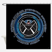 Distressed Shield Shower Curtain