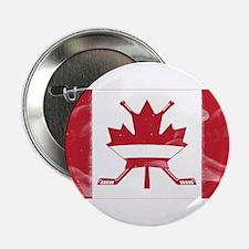 "Canadian Hockey Flag 2.25"" Button"