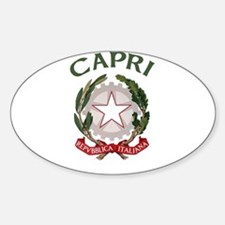 Capri, Italy Oval Decal