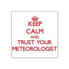 Keep Calm and trust your Meteorologist Sticker