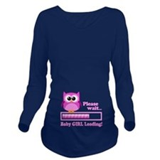 Cute Owl - Baby Girl Loading Long Sleeve Maternity