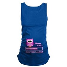 Cute Owl - Baby Girl Loading Maternity Tank Top