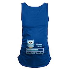 Cute Owl - Baby Boy Loading Maternity Tank Top