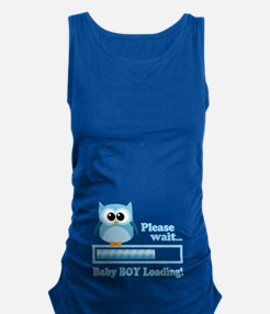 Cute Owl - Baby Boy Loading Maternity Tank Top
