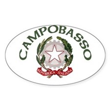 Campobasso, Italy Oval Decal
