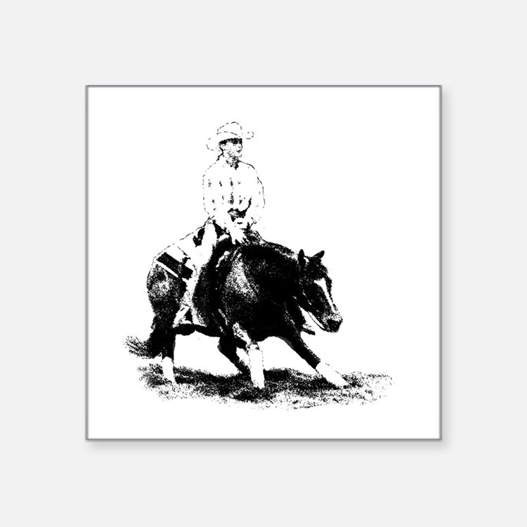 cutting horse Sticker
