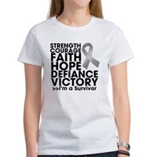 Strength Courage Brain Tumor T-Shirt