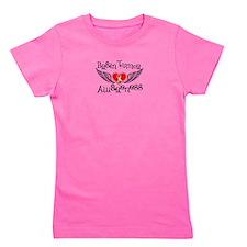 Brain Tumor Awareness Fighter Wings Girl's Tee