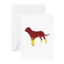 Tosa Flames Greeting Cards (Pk of 10)