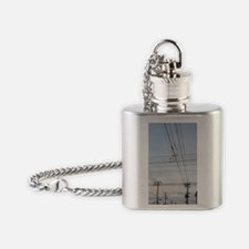 power lines Flask Necklace