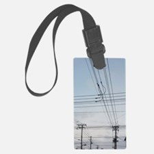 power lines Luggage Tag