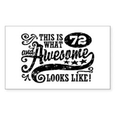 Funny 72nd Birthday Decal