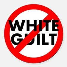 No White Guilt Round Car Magnet