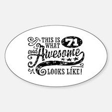 71st Birthday Sticker (Oval)