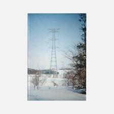 winter power Rectangle Magnet