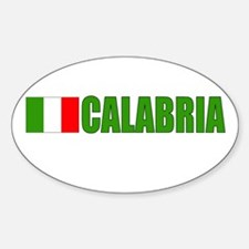 Calabria, Italy Oval Decal
