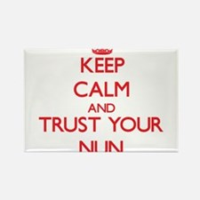 Keep Calm and trust your Nun Magnets