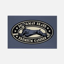 Doberman Brand Rectangle Magnet