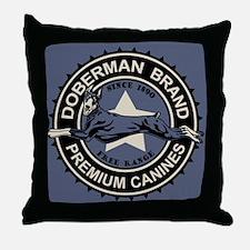 Doberman Brand Throw Pillow
