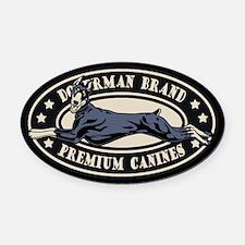 Doberman Brand Oval Car Magnet