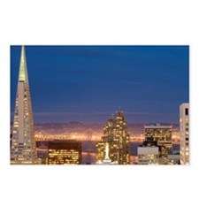 san francisco skyline at  Postcards (Package of 8)