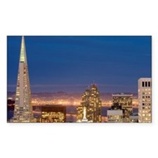 san francisco skyline at night Decal