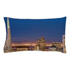 san francisco skyline at night Pillow Case