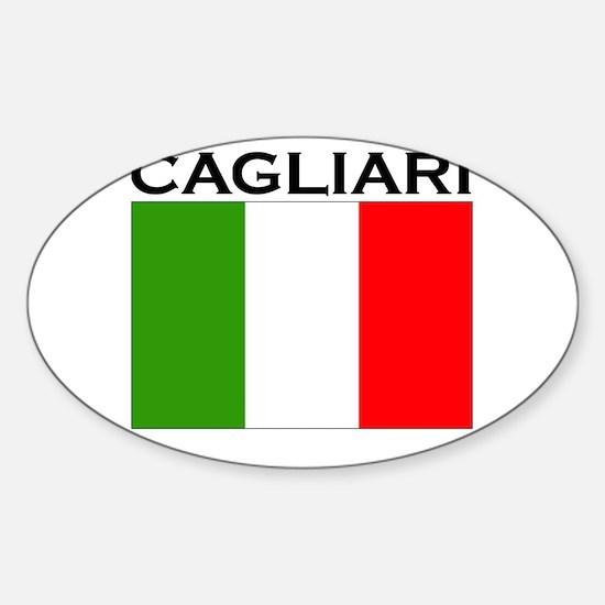 Cagliari, Italy Oval Decal