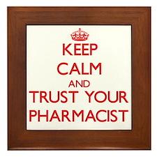 Keep Calm and trust your Pharmacist Framed Tile