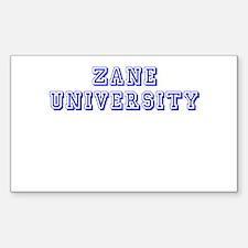 Zane University Rectangle Decal
